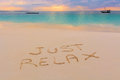 Just Relax Sign Stock Photos - 43906883