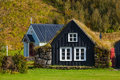 Traditional Icelandic Houses Royalty Free Stock Image - 43912196