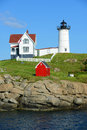 Cape Neddick Lighthouse, Old York Village, Maine Stock Photos - 43913193
