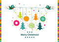 Template Christmas Greeting Card, Ribbon, Vector Stock Images - 43913304