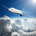 Airplane Above The Clouds Royalty Free Stock Photography - 43914057