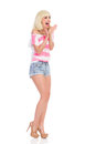 Shouting Blonde Girl Royalty Free Stock Photography - 43917177