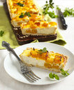 Pumpkin Tart With Ricotta Royalty Free Stock Photos - 43920838