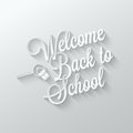 Back To School Paper Cut Lettering Background Royalty Free Stock Photo - 43924905