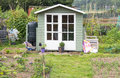 Wooden Shed On An Allotment Garden Royalty Free Stock Photo - 43925795