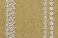 Burlap With Lace Stock Images - 43925994