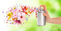 Flower-scented Room Sprays And Flowers From Inside - 2 Stock Images - 43926404