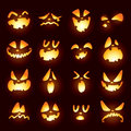 Jack O Lantern Faces Royalty Free Stock Image - 43927346