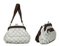 Two Views Of Grey Women Bag Royalty Free Stock Images - 43940709