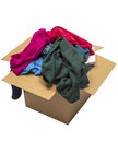 Clothes Overflowing In Box Isolated On White Stock Images - 43947144