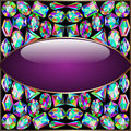 Background Round Frame Made ​​of Precious Stones Stock Image - 43954991