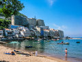 View On Sea Beach And Hotel In Montenegro Stock Photos - 43957693