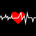 Heart With Life Line In Minimalistic Style. Royalty Free Stock Photos - 43958168