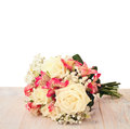 Bridal Bouquet Of Flowers Isolated. Stock Photography - 43960312