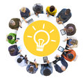 Multiethnic People Social Networking With Innovation Concept Stock Photography - 43961872