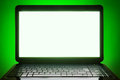Black Laptop Blank Screen Stock Photo - 43964430