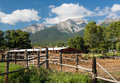 Farmyard And Stable By Mt Princeton CO Royalty Free Stock Photo - 43975405