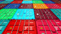 Lots Of Colorful Cargo Containers. Stock Photo - 43976480