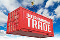 International Trade On Red Container. Stock Photography - 43976772