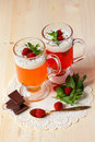 Fruit Jelly With Yogurt, Raspberries And Mint Stock Images - 43979244