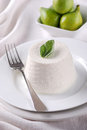 Fresh Ricotta On The Plate Royalty Free Stock Photography - 43981297