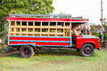 Red Vintage Truck Royalty Free Stock Photography - 43990187
