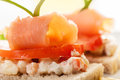 Sandwich With Smoked Salmon Royalty Free Stock Images - 43994379