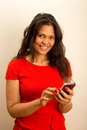 Woman With Phone Royalty Free Stock Photo - 43996965