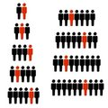 1 Out Of Every Statistic Figures Royalty Free Stock Image - 4405276