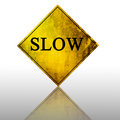 Slow Sign Royalty Free Stock Photos - 4405548