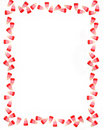 Valentine Candy Corn Border Or Frame Royalty Free Stock Images - 4405599
