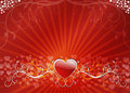 Floral Heart Background Stock Image - 4407471
