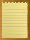 Spiral Bound Yellow Legal Pad Royalty Free Stock Images - 44003919
