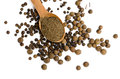 Wooden Spoon With Black Pepper Royalty Free Stock Photo - 44015435