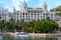 Historic Buildings In Alicante - Harbour Waters Edge Impressive Boat Stock Images - 44024114