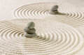 Zen Garden With Stacked Stones And Sand With Circles Stock Photography - 44029522