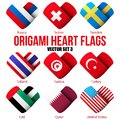 Set Flag Icons In The Form Of Heart. I Love It. Royalty Free Stock Photography - 44031487