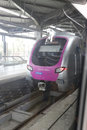 Mumbai Metro Train Shot From Window. Royalty Free Stock Photos - 44031938
