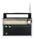 Old Radio Isolated On A White Background With Clipping Path Stock Photography - 44036672