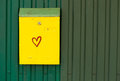 Yellow Mail Box Royalty Free Stock Images - 44038179