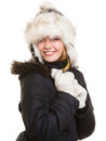 Winter Vacation. Cheerful Girl In Warm Clothes. Stock Photos - 44041043