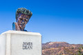 James Dean Sculpture In The Hollywood Hills, California Royalty Free Stock Photo - 44048195