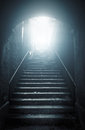 Old Abandoned Stairs Going Up To The Light Stock Photo - 44068090