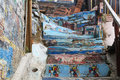 Wall And Stair With Graffiti In Valparaiso, Chile Stock Photos - 44077723