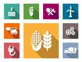 Industrial Flat Icons Set Stock Photo - 44087240