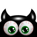 Halloween Monster With Green Eyes With Place For Text Stock Photo - 44103920