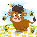 Bull And Bee Stock Image - 44121201