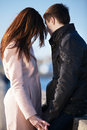 Young Couple Dating In The City Park Stock Image - 44128981