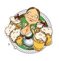 Oktoberfest Girl With Glass Of Beer Stock Photography - 44157492