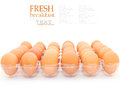 Fresh Eggs Stock Photos - 44160083